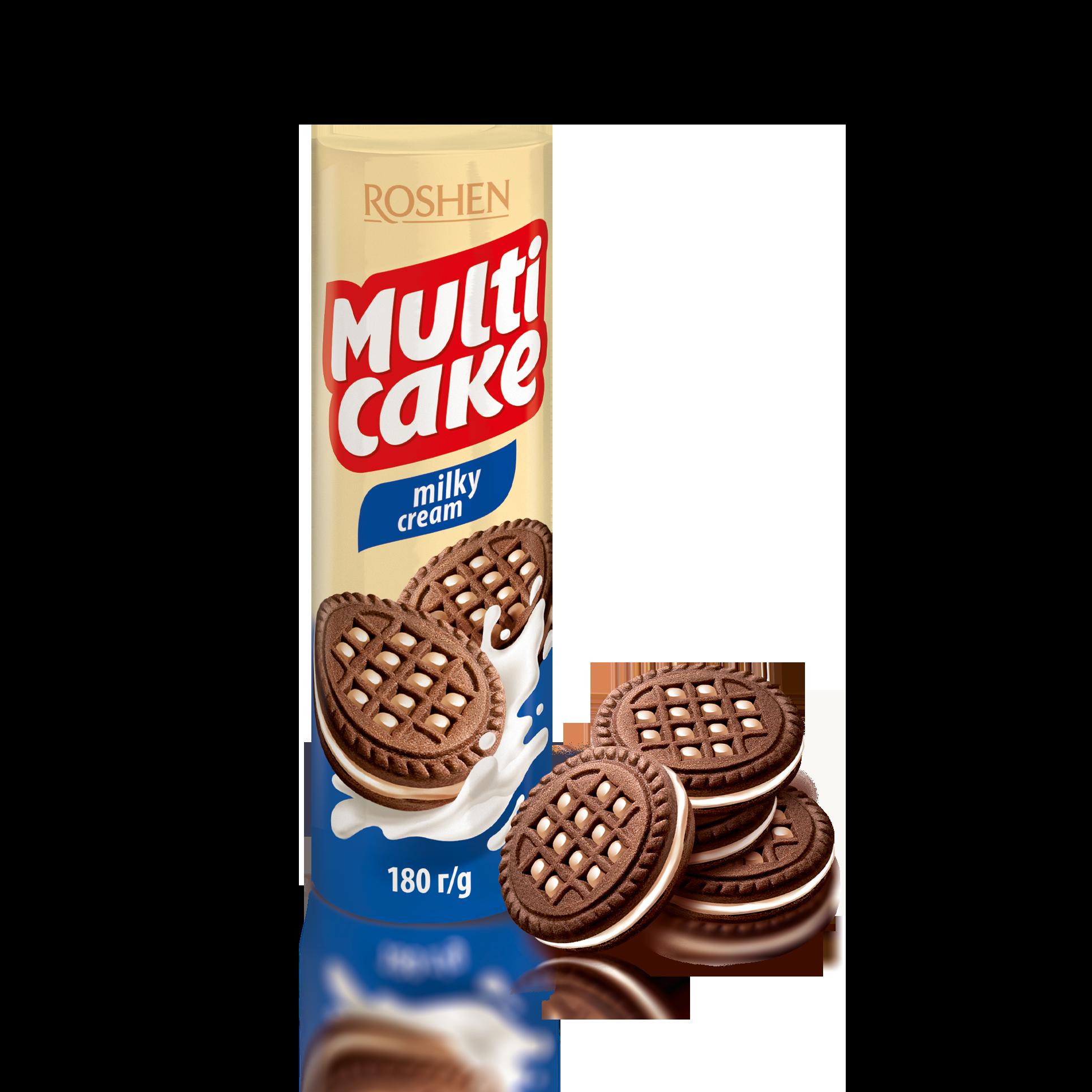 Печиво-сендвіч Multicake з молочно-кремовою начинкою 180 г