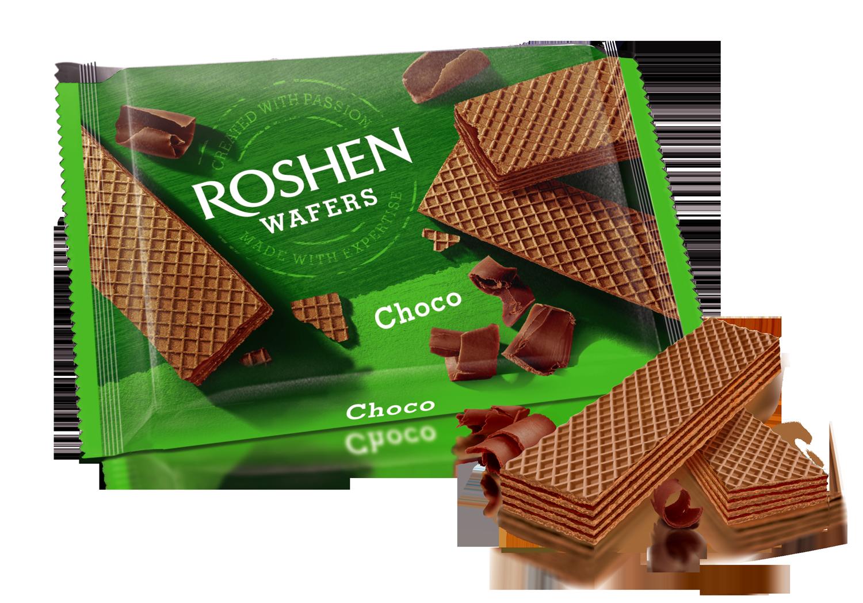 Вафлі Roshen Wafers шоколад 72 г