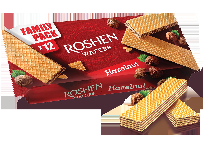 Вафлі Roshen Wafers горіх 216 г