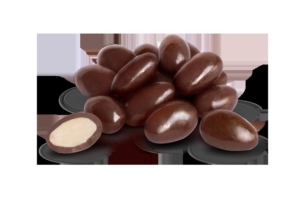 Драже мигдаль в чорному шоколаді 100 г