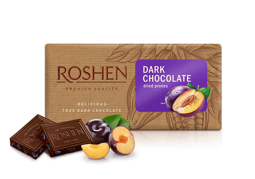 Шоколад чорний  з чорносливом 90 г