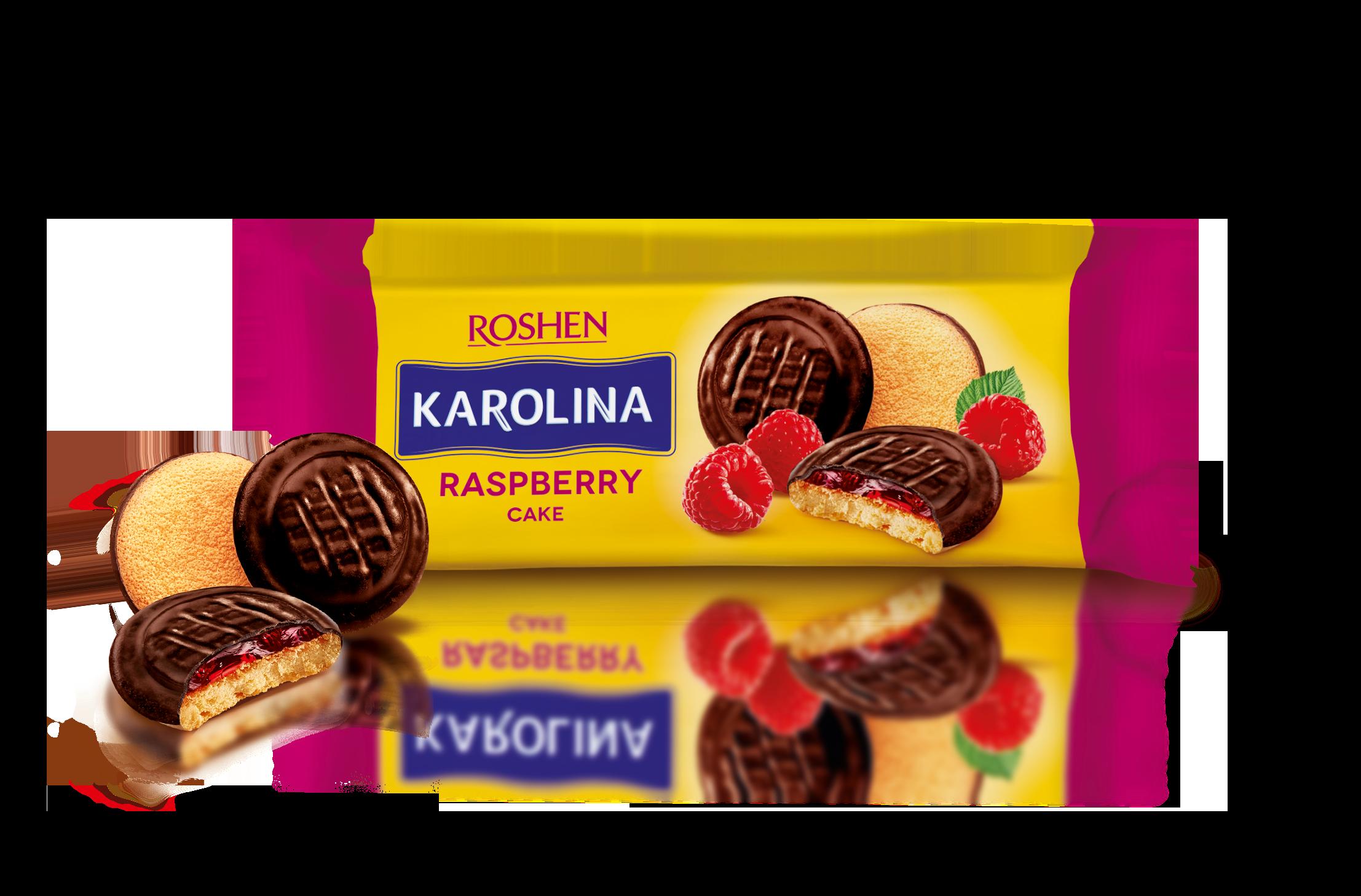 Печиво Karolina з желейною начинкою зі смаком малини  135 г