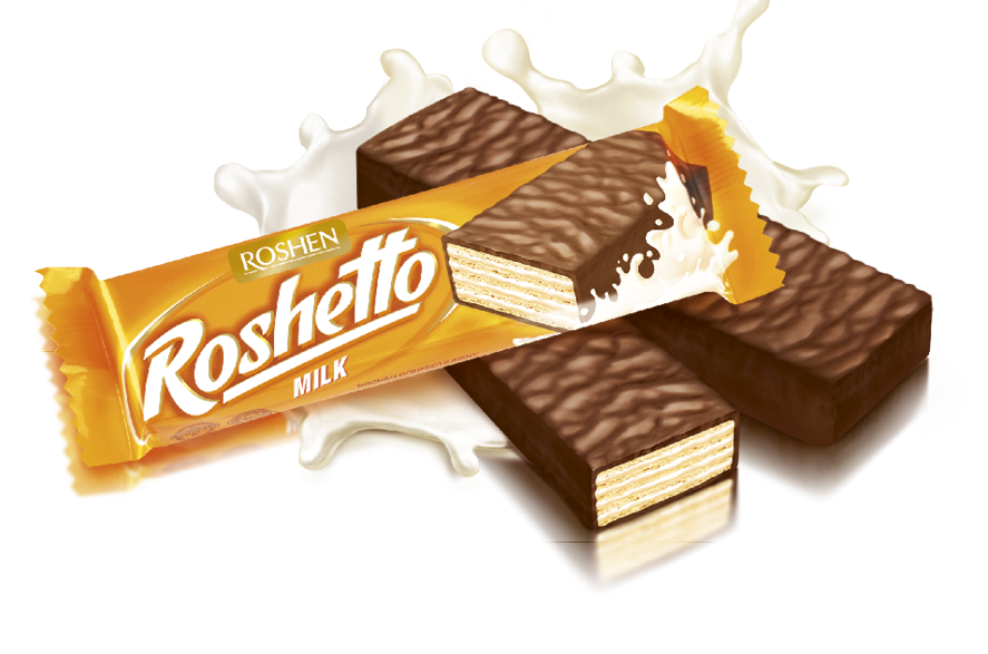 Вафельний батончик Roshetto Milk chocolate 32 г