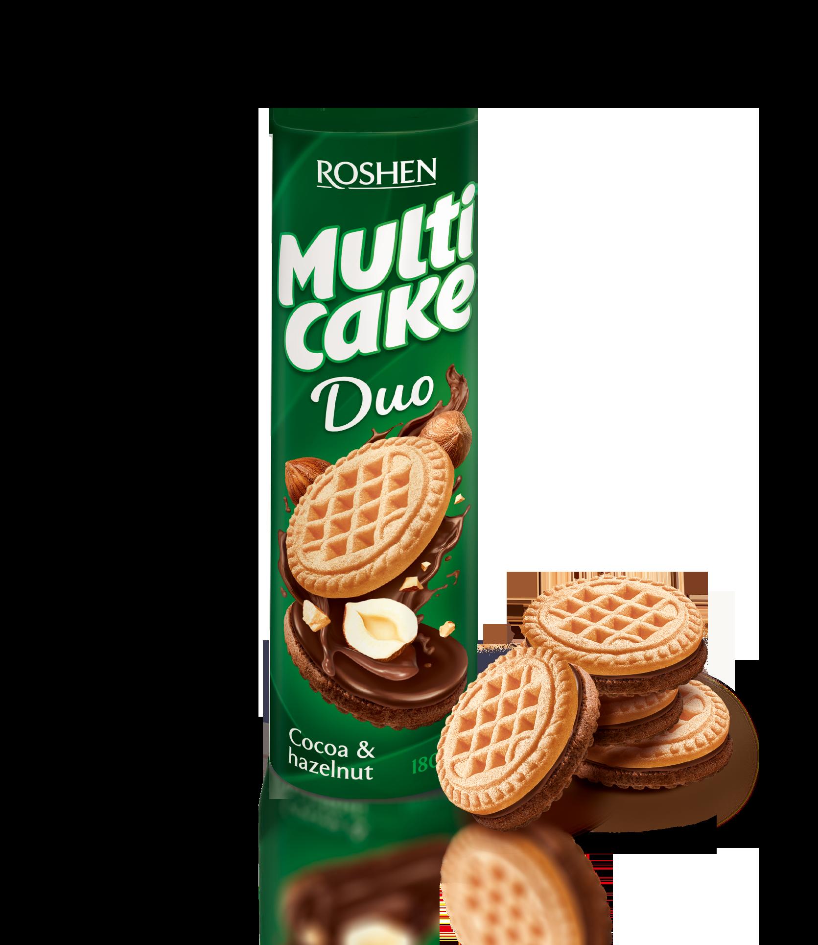 Печиво-сендвіч Multicake Duo з начинкою какао-горіх 180 г