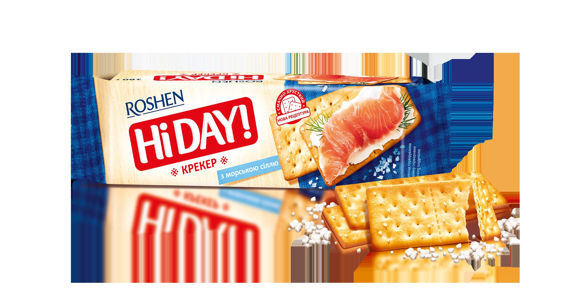 Крекер HI DAY! з морською сіллю 168 г
