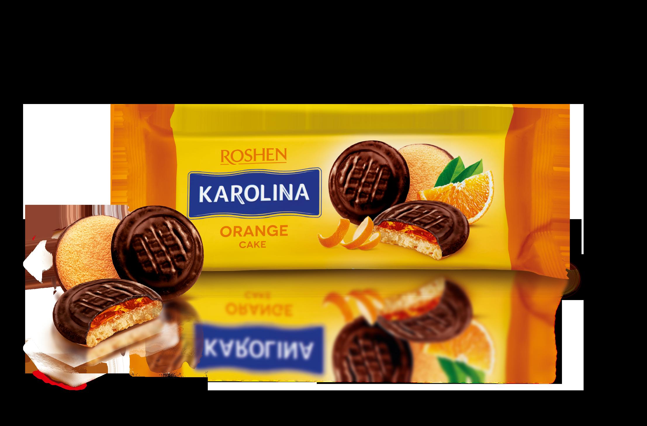 Печиво Karolina з желейною начинкою зі смаком апельсина 135 г