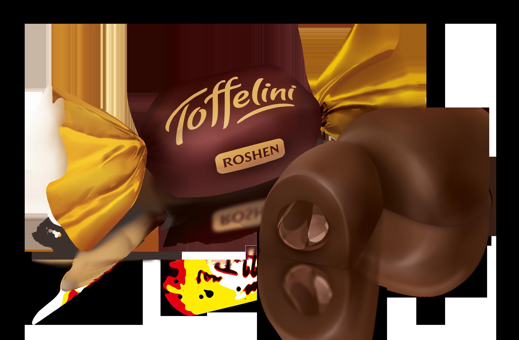 Цукерки Toffelini з шоколадною начинкою 100 г