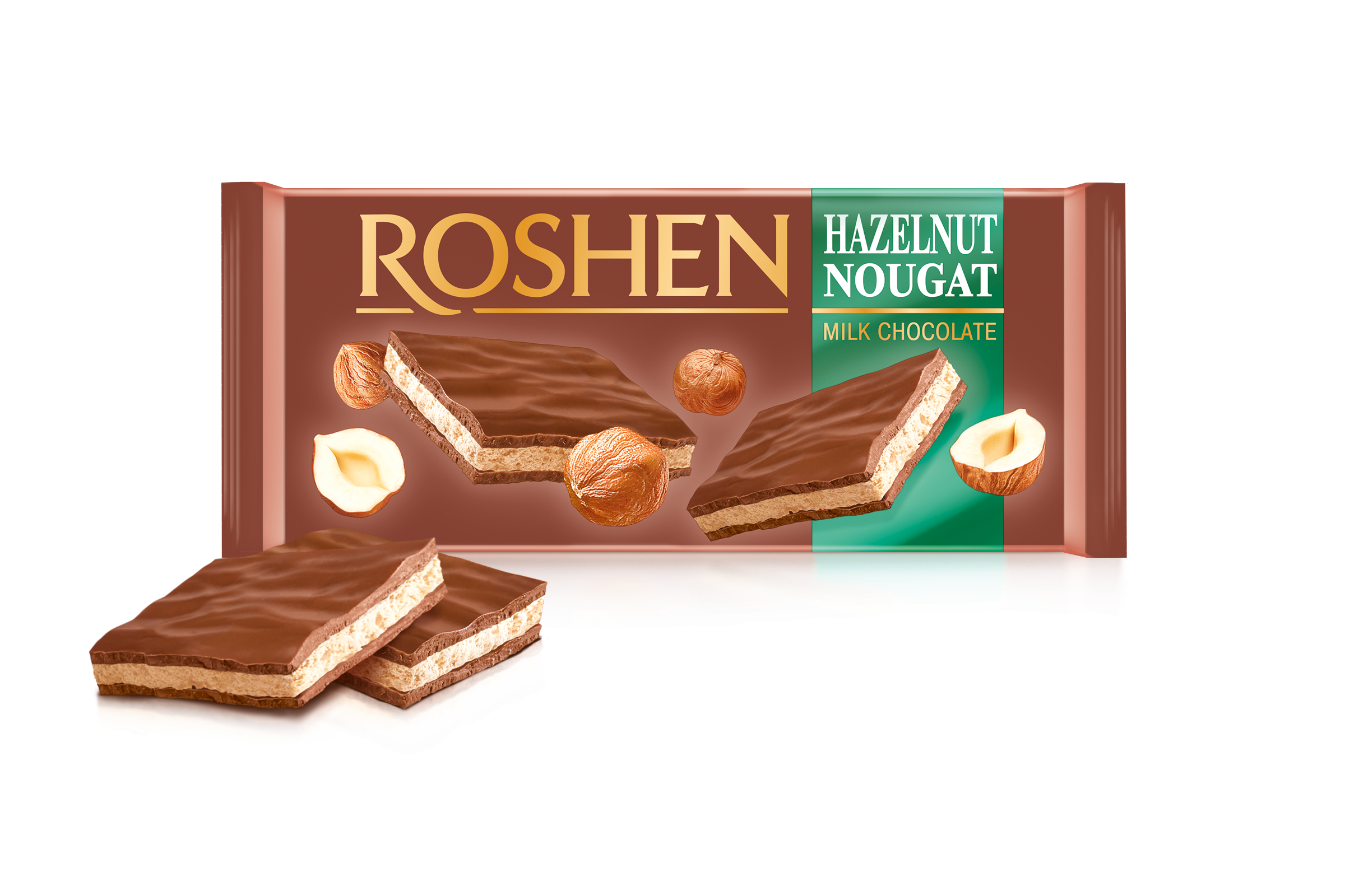 Шоколад молочний з горіховою нугою 90 г