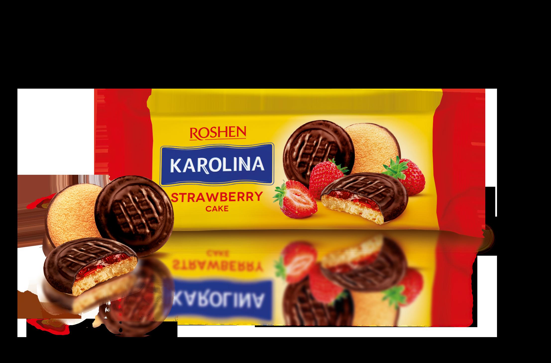 Печиво Karolina з желейною начинкою зі смаком полуниці 135 г