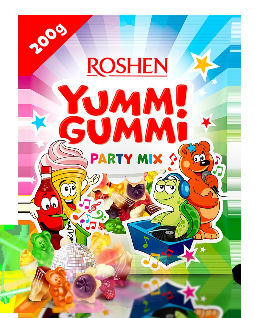 Желейні цукерки Yummi Gummi Party Mix 200 г