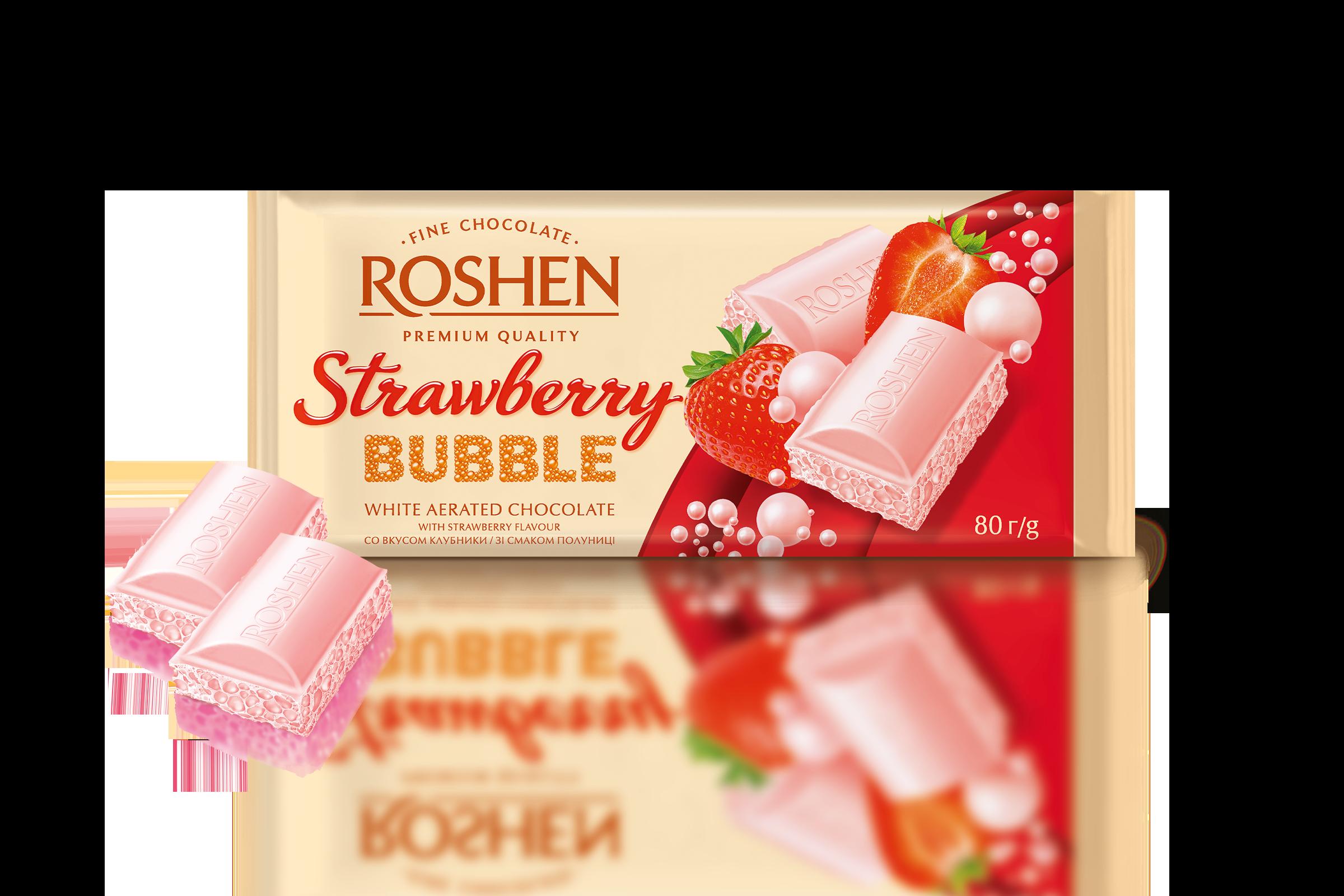 Шоколад пористий білий Bubble Strawberry  80 г