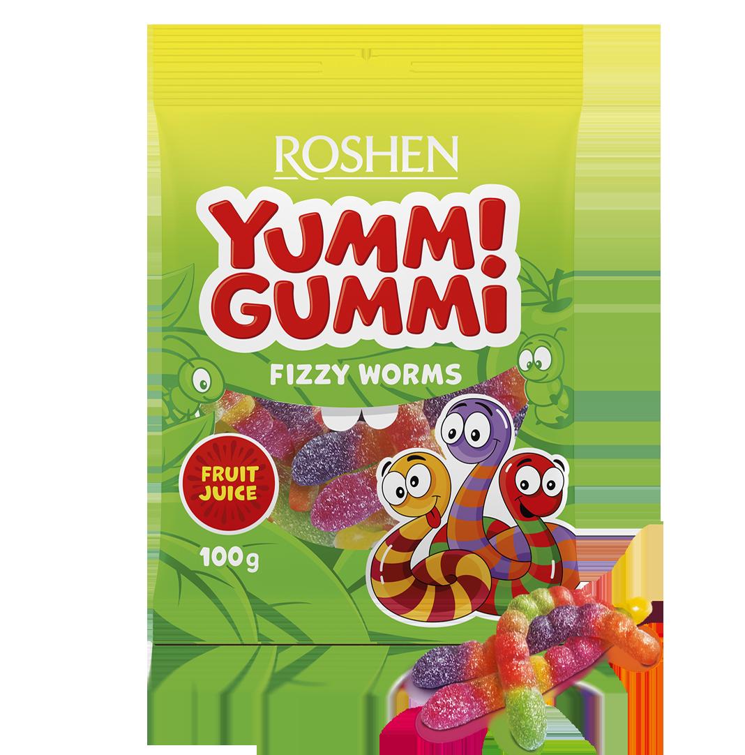 Желейні цукерки Yummi Gummi Fizzy Worms 100 г