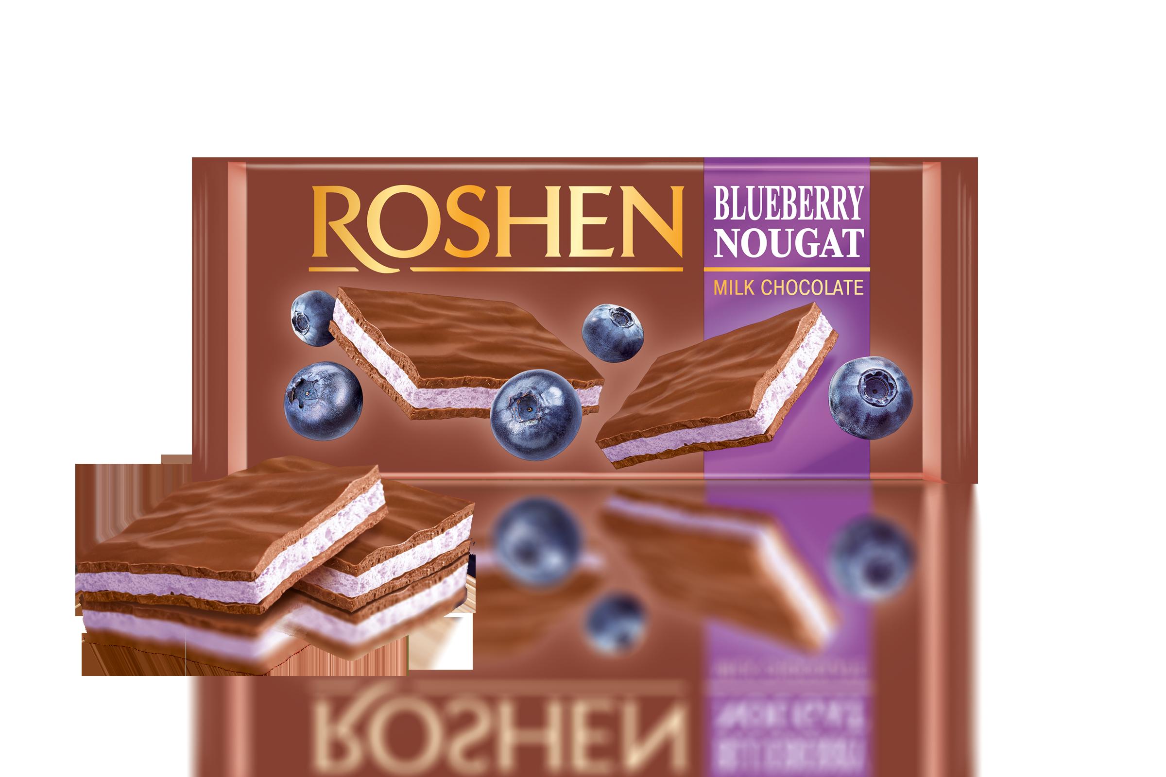 Шоколад молочний з чорничною нугою 90 г