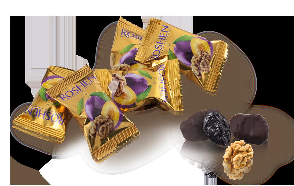 Чорнослив з волоським горіхом у шоколаді 100 г