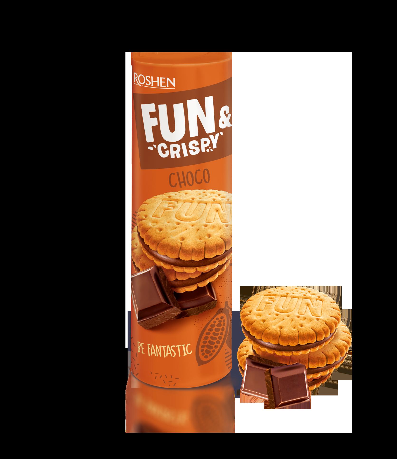 Печиво Fun Crispy з шоколадною начинкою 135 г