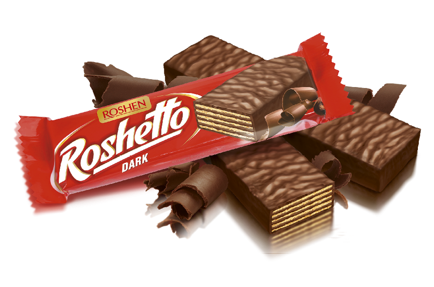 Вафельний батончик Roshetto Dark chocolate 32 г