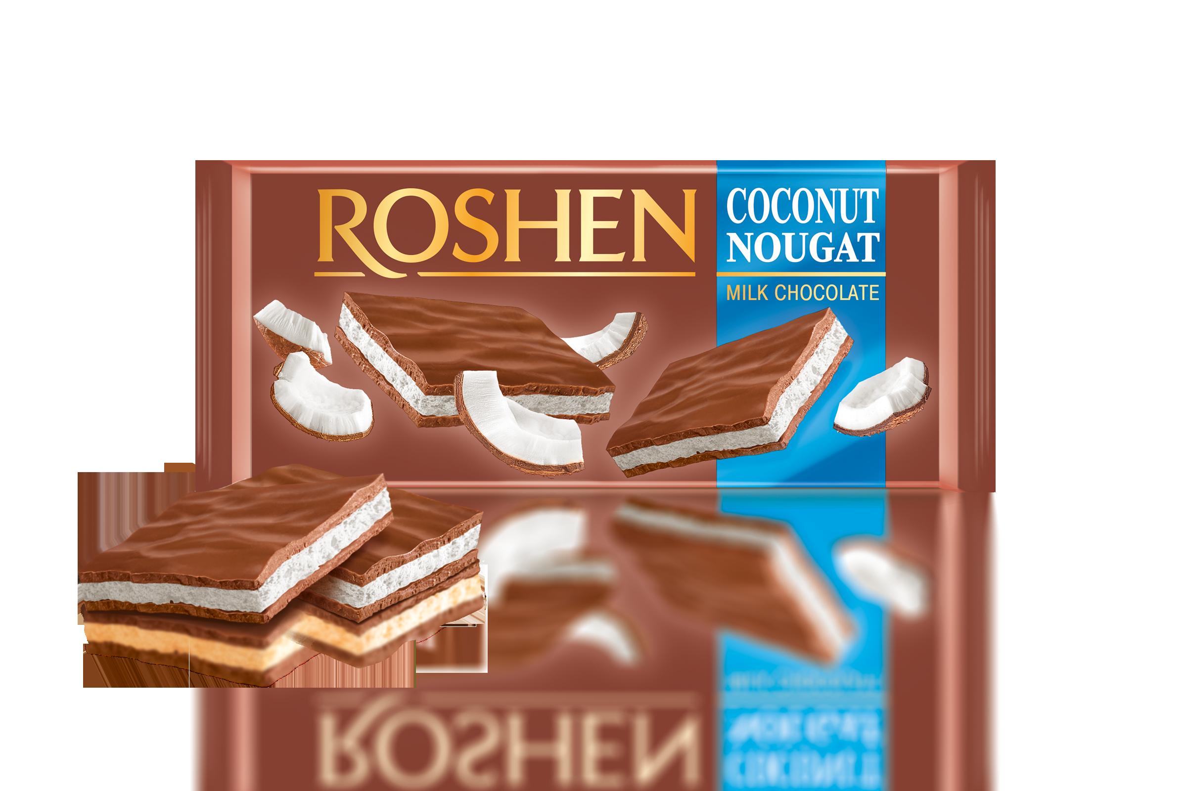 Шоколад  молочний з кокосовою нугою  90 г