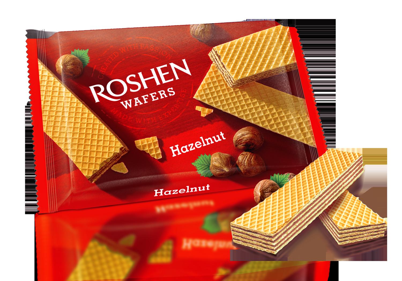 Вафлі Roshen Wafers горіх 72 г