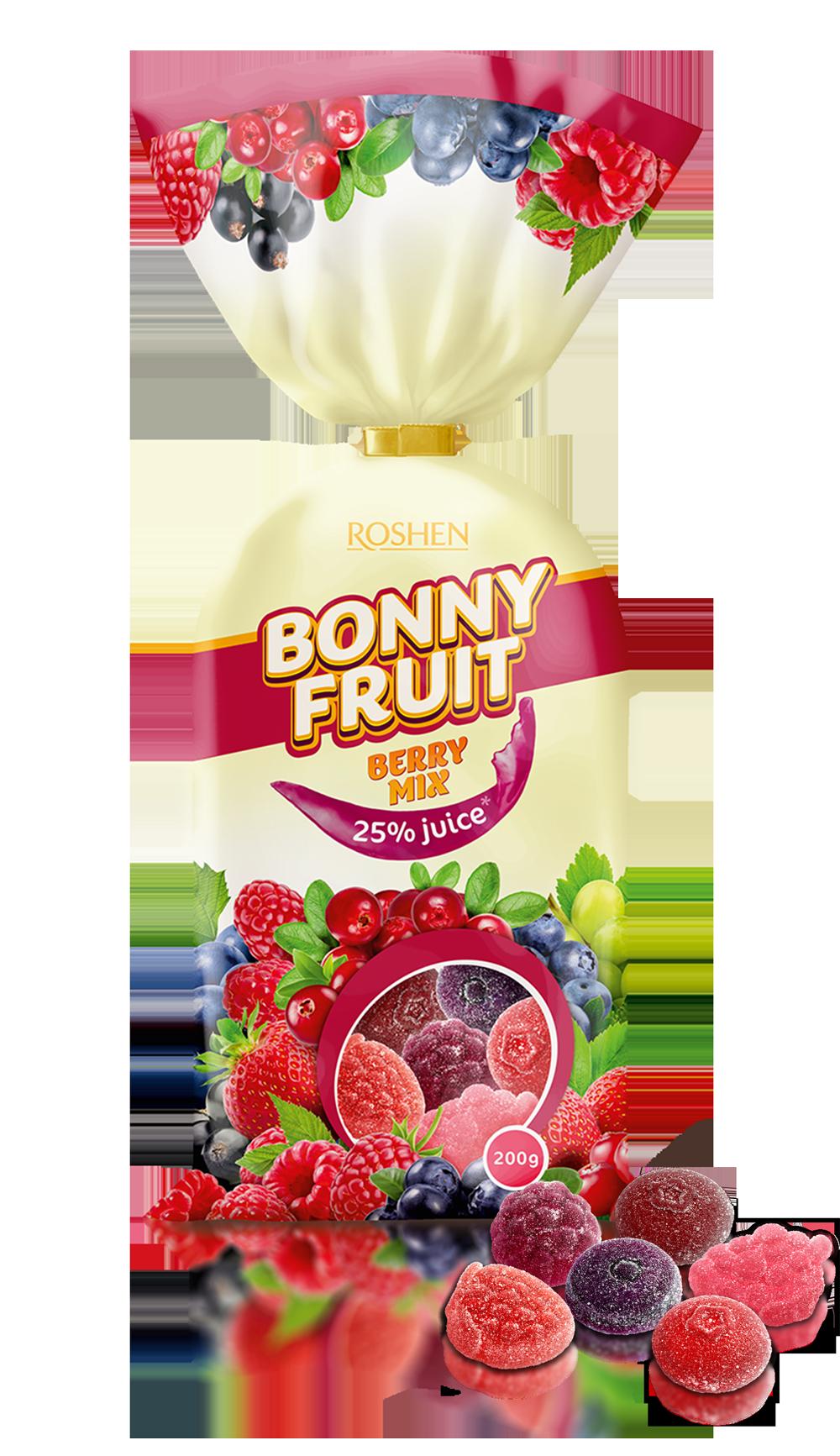 Желейні цукерки Bonny-fruit berry mix 200 г