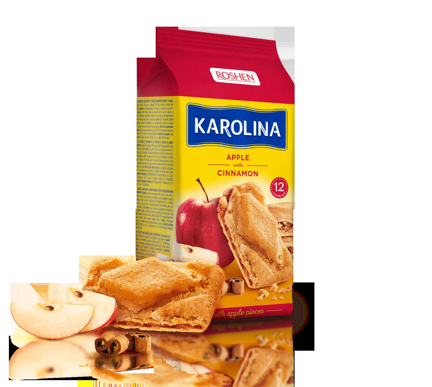 Печиво з яблуком та корицею Karolina 168 г