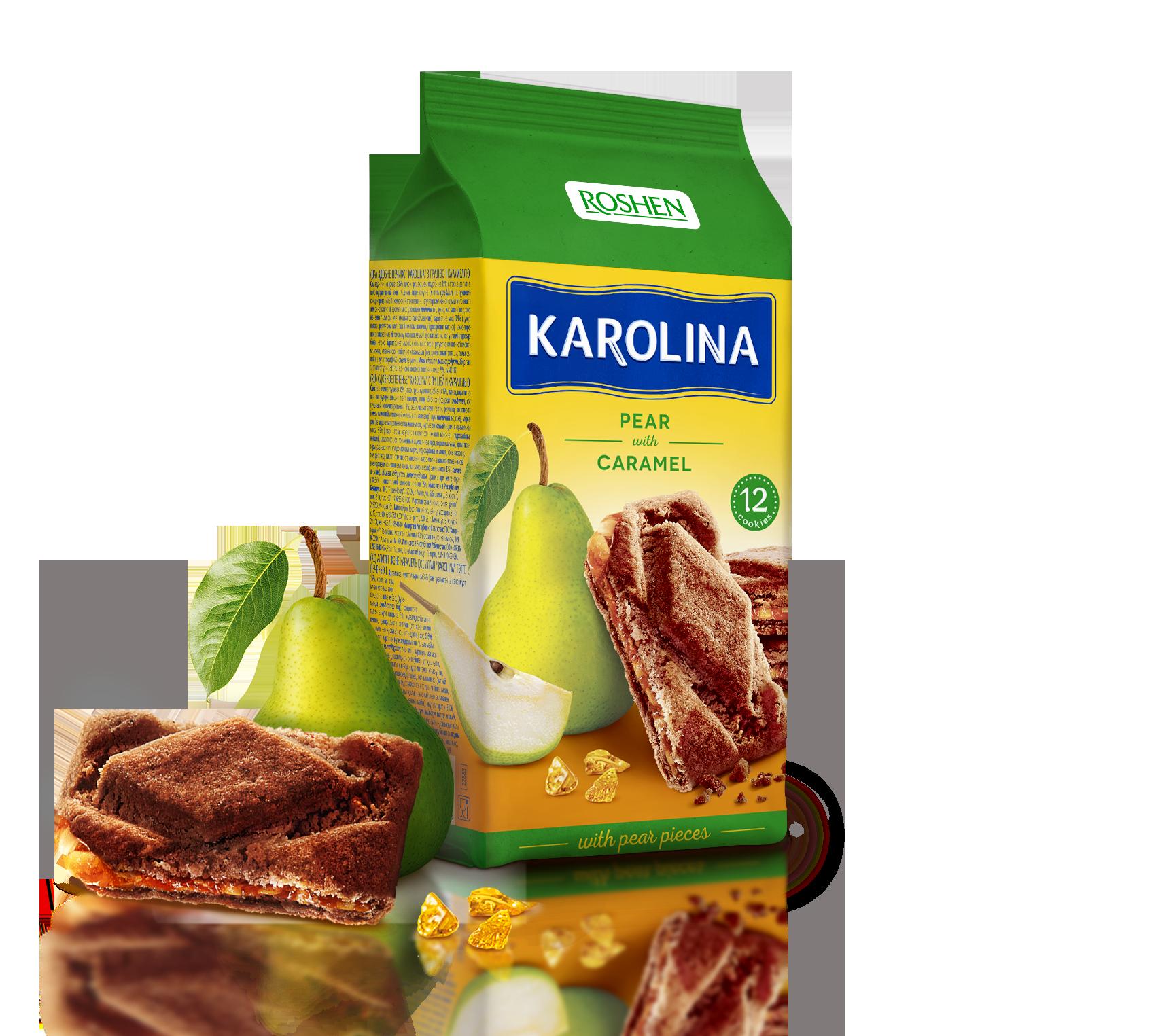 Печиво з грушею та карамеллю Karolina 168 г