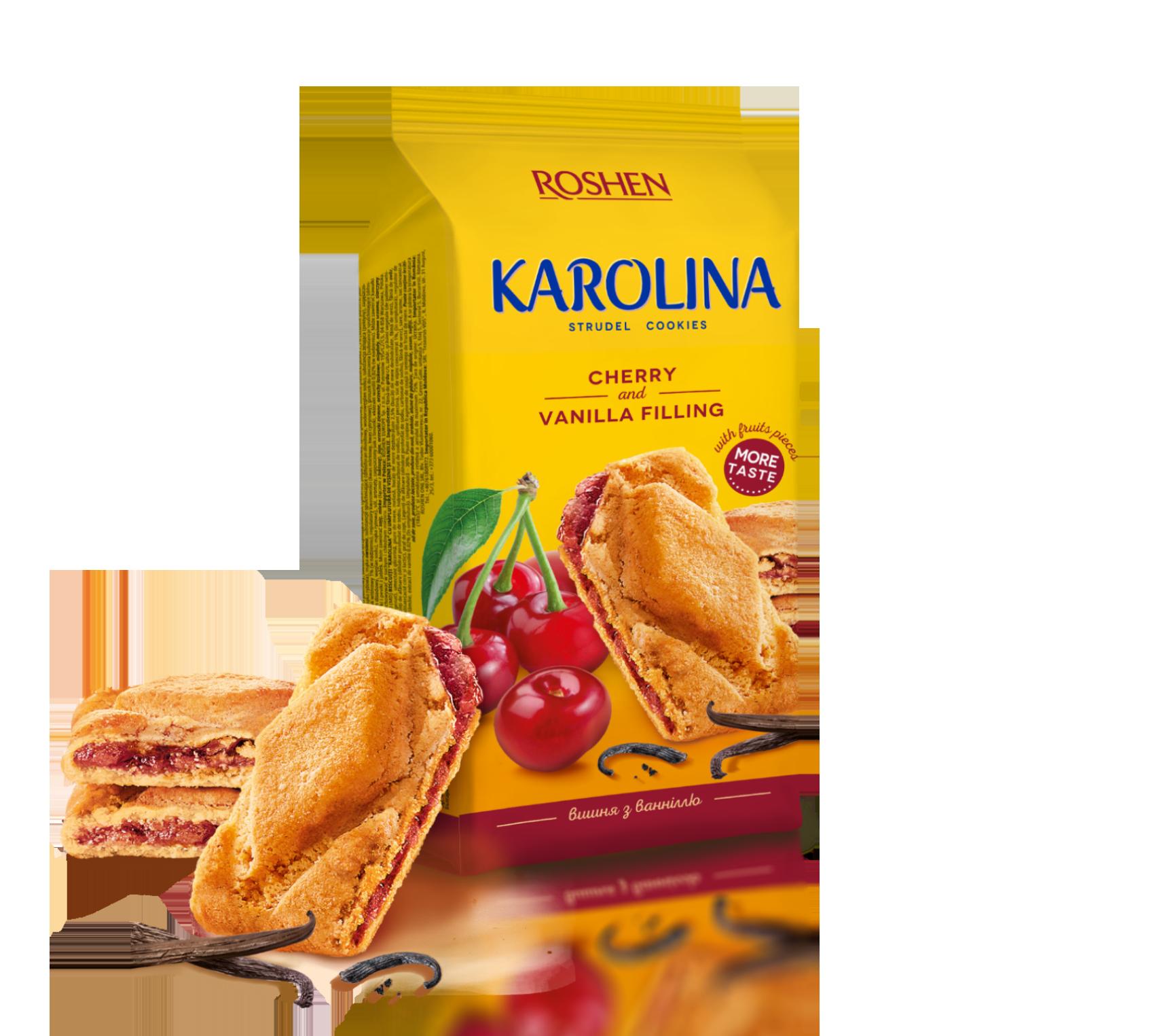 Печиво з вишнево-ванільною начинкою Karolina 168 г
