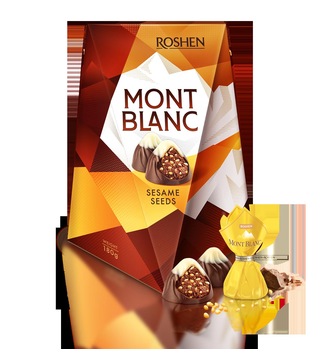Цукерки Монблан з шоколадом і сезамом 177 г