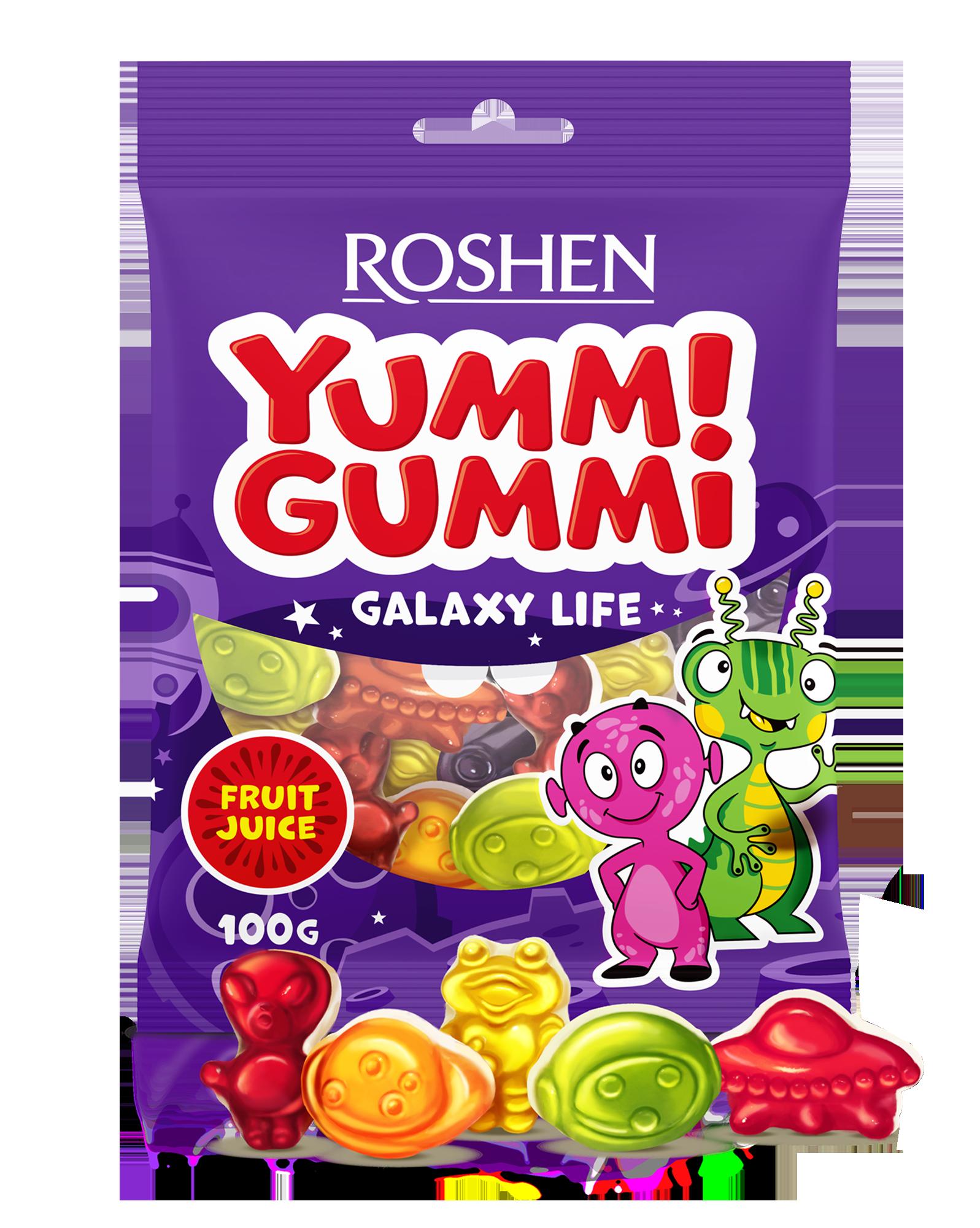 Желейні цукерки Yummi Gummi Galaxy Life  100 г