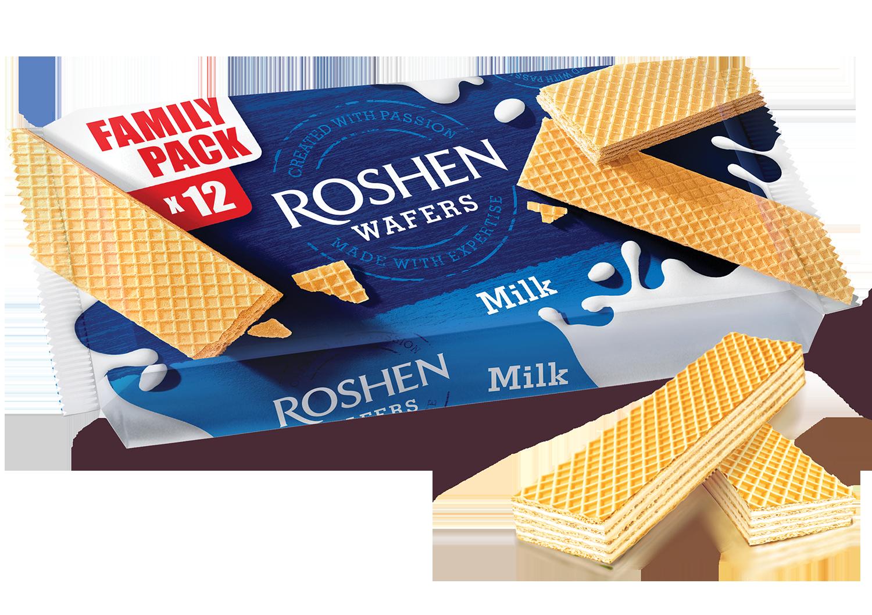 Вафлі Roshen Wafers молоко 216 г