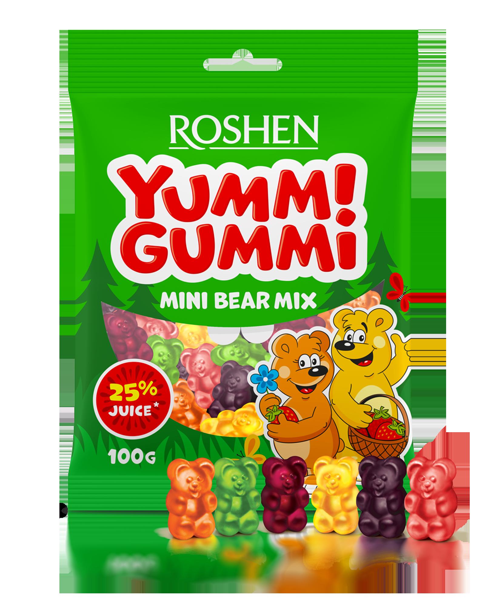 Желейні цукерки Yummi Gummi Mini Bear Mix 100 г
