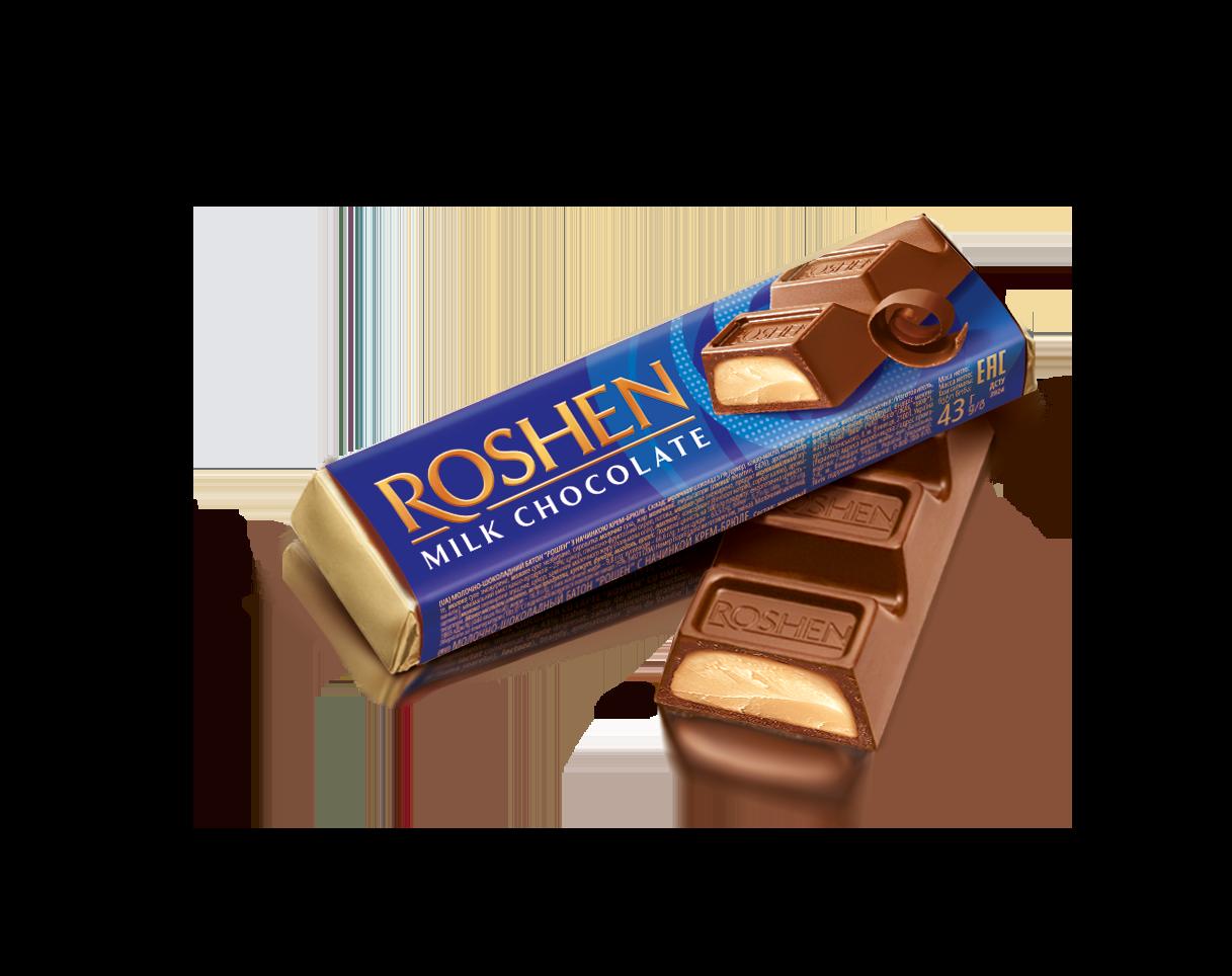 Батон молочно-шоколадний з начинкою крем-брюле 43 г