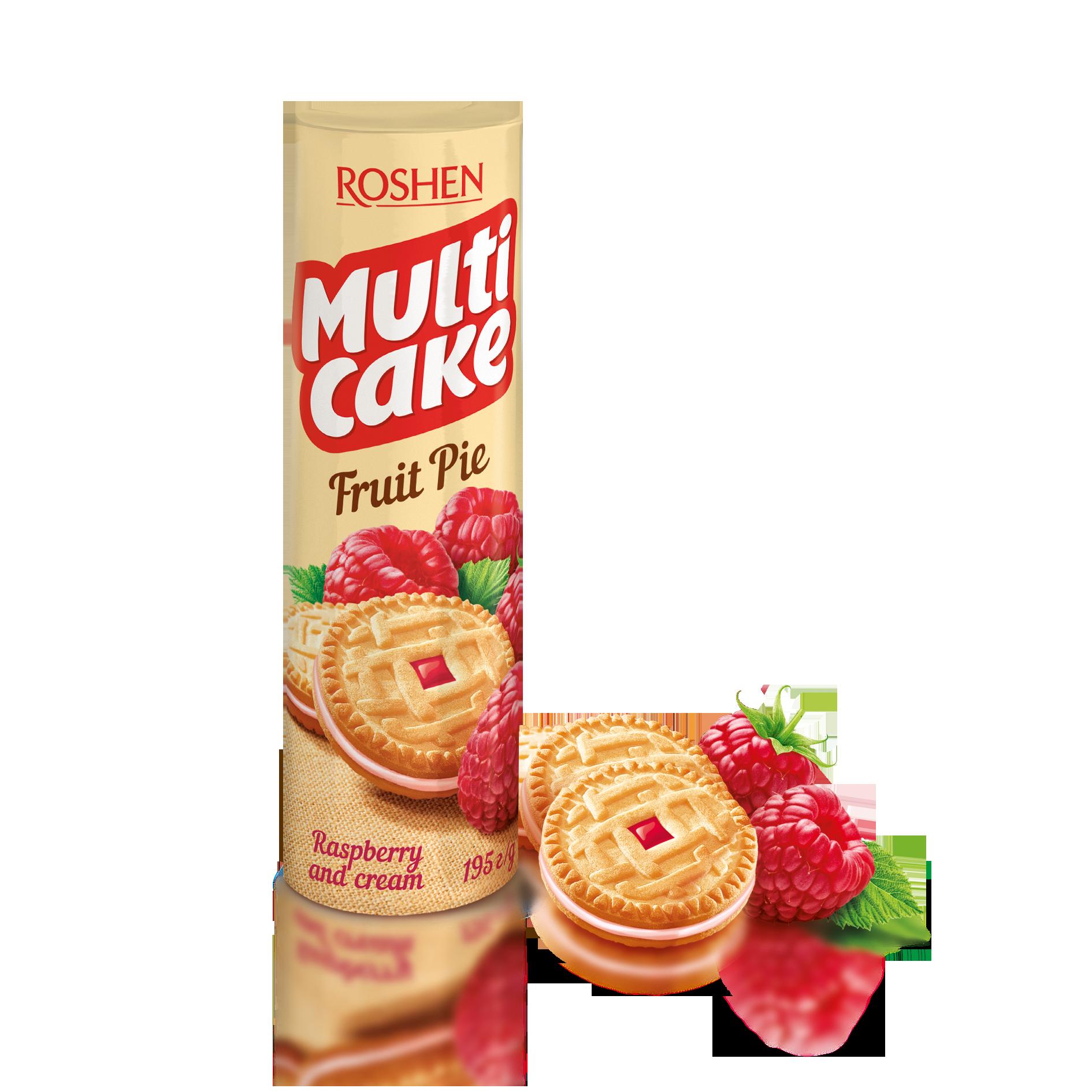 Печиво-сендвіч Multicake з начинкой малина-крем 195 г