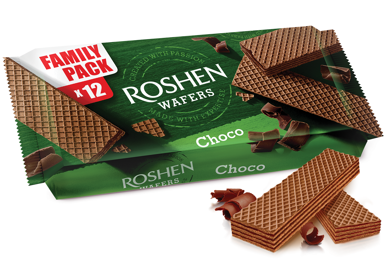 Вафлі Roshen Wafers шоколад 216 г