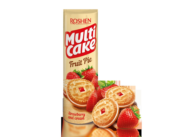 Печиво-сендвіч Multicake з начинкою полуниця-крем 195 г