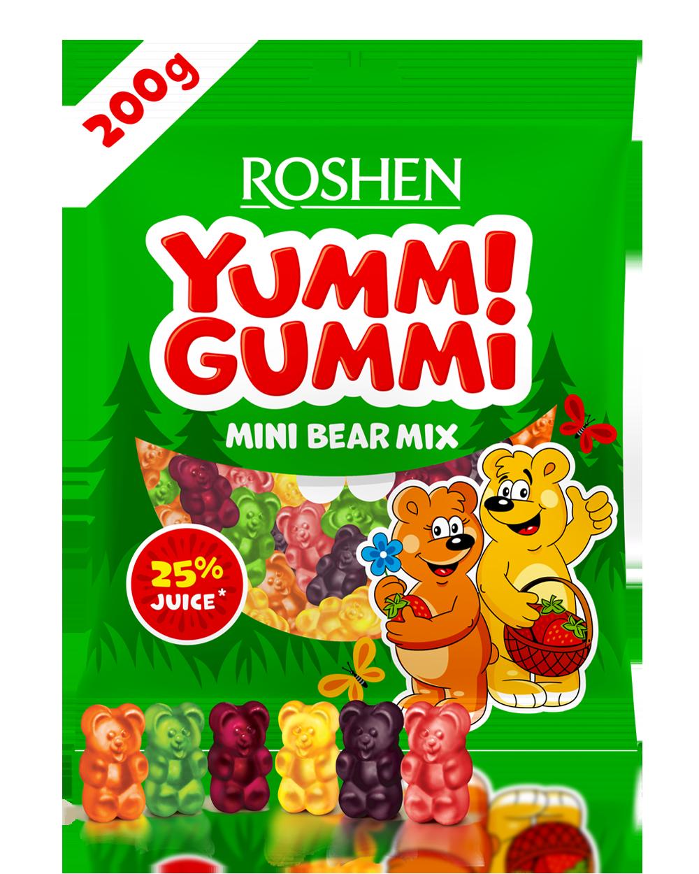 Желейні цукерки Yummi Gummi Mini Bear Mix 200 г
