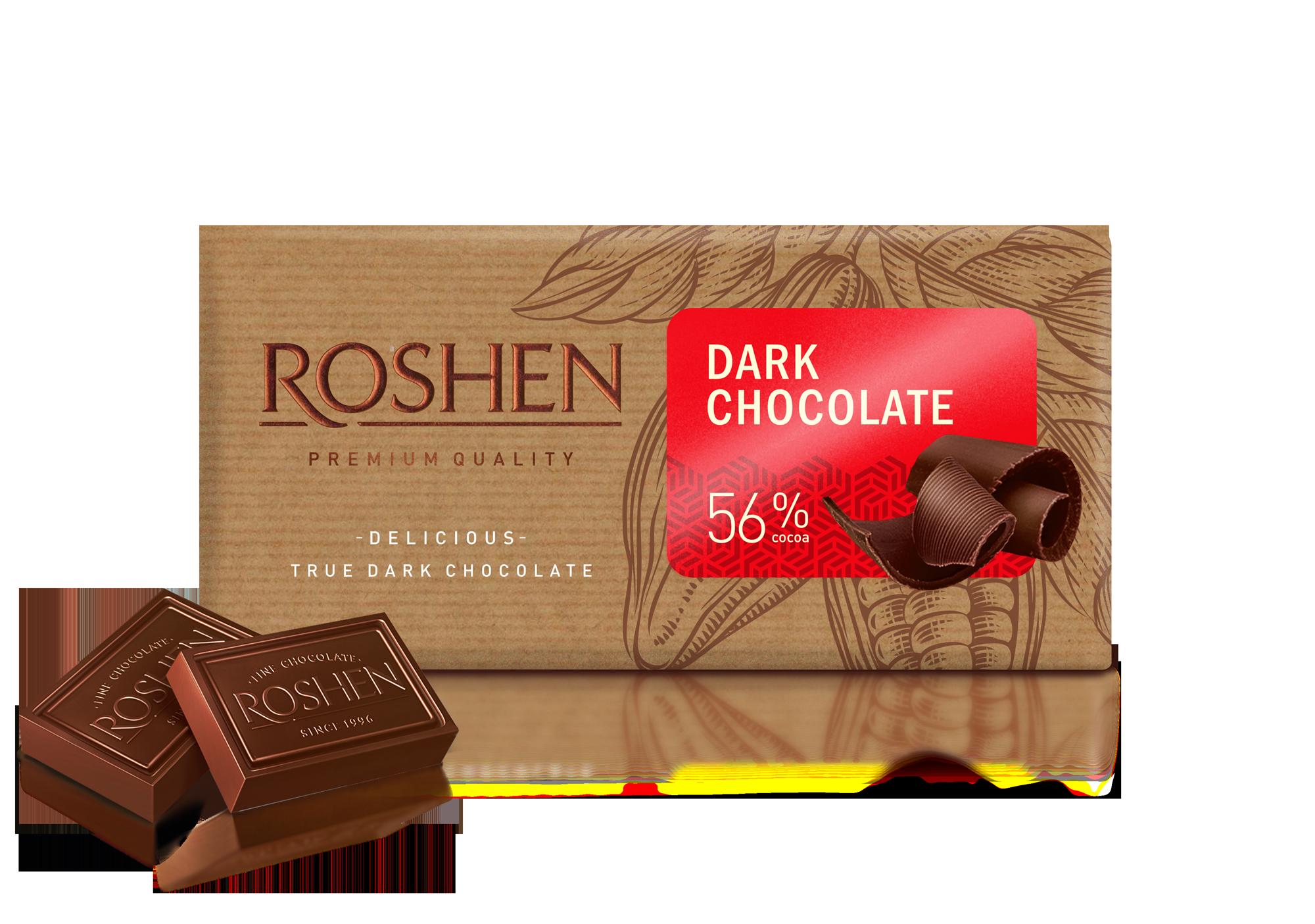 Шоколад чорний 56% 90 г